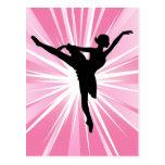 Bailarina rosada de la estrella tarjeta postal