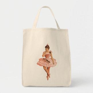 Bailarina rosada del Victorian Bolsa Tela Para La Compra