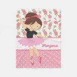 Bailarina rosada floral femenina caprichosa