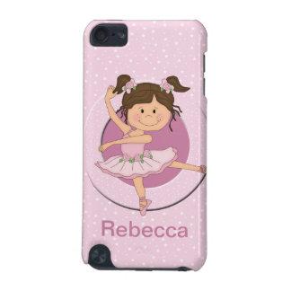 Bailarina rosada linda personalizada 1 funda para iPod touch 5G