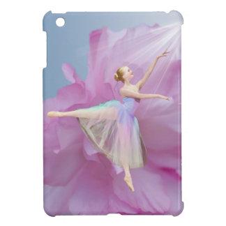 Bailarina rosada y azul con la flor del Peony