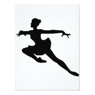 """Bailarina (silueta del bailarín de ballet) ~. de invitación 6.5"""" x 8.75"""""""