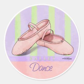 Bailarina Slippes Pegatina Redonda