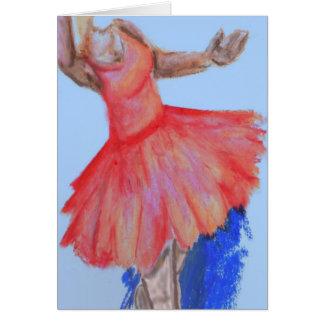 Bailarina Tarjeta De Felicitación