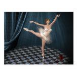bailarina tarjeta postal