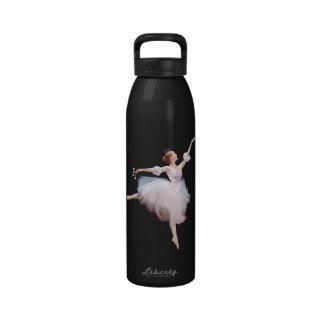 Bailarina y botella de agua del personalizable de