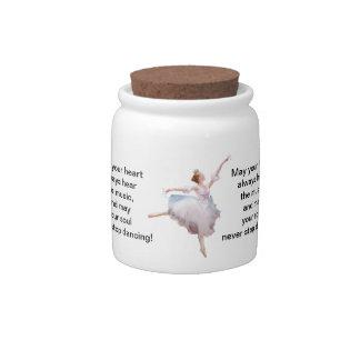 Bailarina y castañuelas tarro de cerámica para dulces