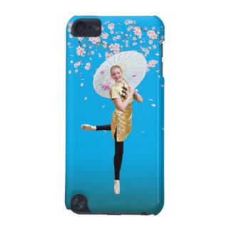 Bailarina y flores de cerezo funda para iPod touch 5G