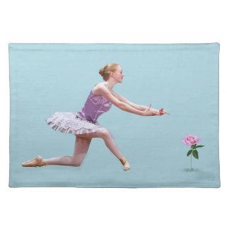 Bailarina y Placemat adaptable color de rosa Mantel Individual