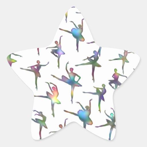 Bailarinas Calcomania Forma De Estrella