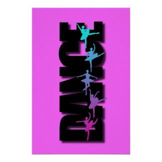 Bailarinas coloreadas danza posters