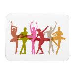 Bailarinas coloridas del baile iman