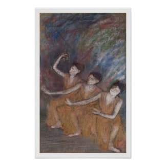 Bailarinas de Edgar Degas el | Trois Póster