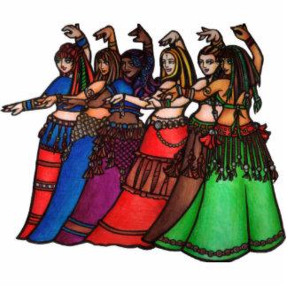 Bailarinas de la danza del vientre adaptables adorno fotoescultura