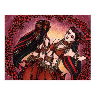 Bailarinas de la danza del vientre tribales de los tarjetas postales