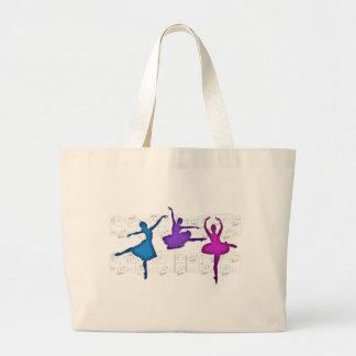 Bailarinas del día del ballet bolsas de mano