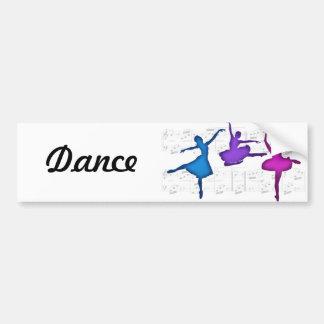 Bailarinas del día del ballet etiqueta de parachoque
