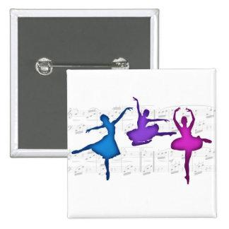 Bailarinas del día del ballet pins