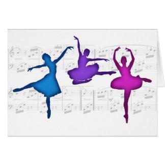 Bailarinas del día del ballet tarjeta de felicitación