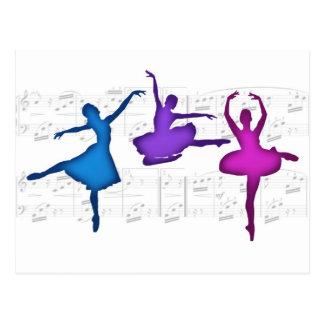 Bailarinas del día del ballet tarjeta postal