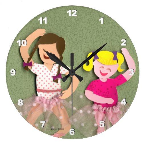 Bailarinas del reloj de pared