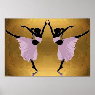 bailarinas en rosa en el oro A PARTIR del 14,95 Póster