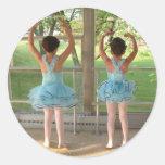 Bailarinas Etiquetas Redondas