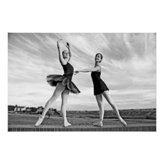 Bailarinas felices póster