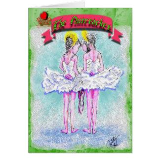 Bailarinas jovenes Talking-341 del Cascanueces-Dos Tarjeta De Felicitación