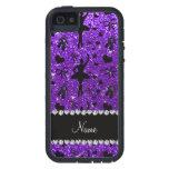Bailarinas púrpuras del brillo del añil conocido iPhone 5 protector