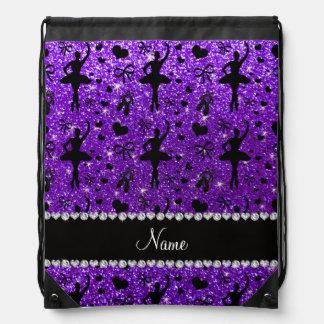 Bailarinas púrpuras del brillo del añil conocido mochila