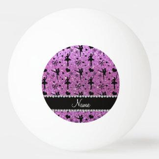 Bailarinas púrpuras en colores pastel conocidas de pelota de ping pong