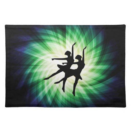 Bailarinas que brillan intensamente mantel