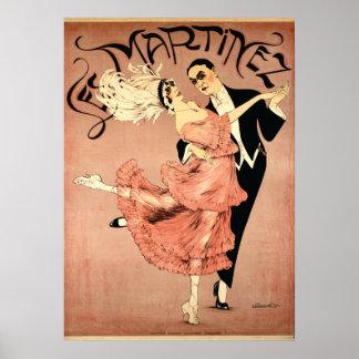 Bailarines 1920 del tango del ~ del art déco impresiones