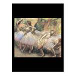 Bailarines 1 de Edgar Degas Postal