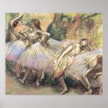 Bailarines 1 de Edgar Degas Poster