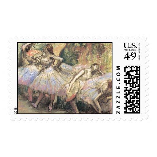 Bailarines 1 de Edgar Degas Sello