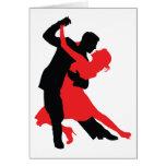 Bailarines 1 tarjeta de felicitación