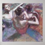 Bailarines 2 de Edgar Degas Posters