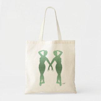 Bailarines agraciados del verde de la actitud bolsas de mano