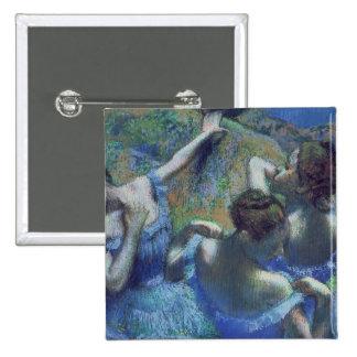 Bailarines azules, c.1899 pin cuadrada 5 cm