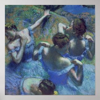 Bailarines azules, c.1899 póster