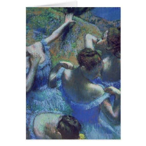 Bailarines azules, c.1899 tarjeta de felicitación