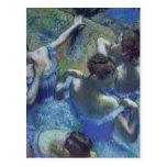 Bailarines azules, c.1899 tarjeta postal