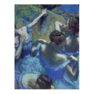 Bailarines azules, c.1899 postal