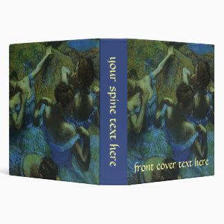 "Bailarines azules de Edgar Degas, impresionismo Carpeta 1 1/2"""