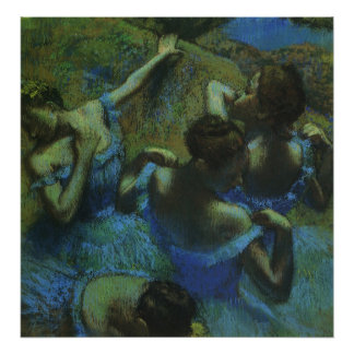 Bailarines azules de Edgar Degas impresionismo Poster