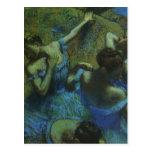 Bailarines azules de Edgar Degas, impresionismo Postal