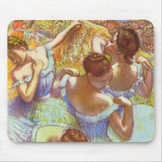 Bailarines azules de Edgar Degas Mousepad Alfombrilla De Raton