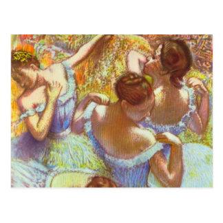 Bailarines azules de Edgar Degas Tarjeta Postal